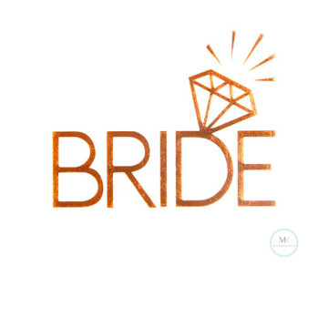 Bride Sparkle Tattoo Sticker image