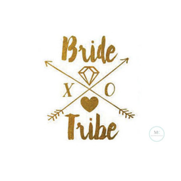Bride Tribe XO Tattoo Sticker image