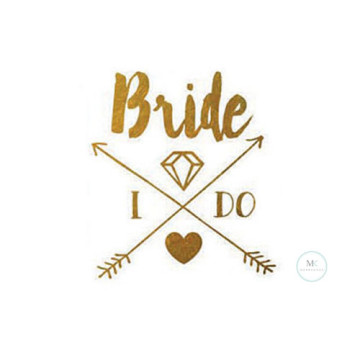 Bride.I DO Tattoo Sticker image