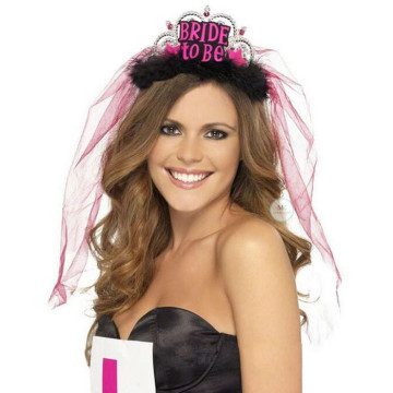 Bride to be Tiara Black image