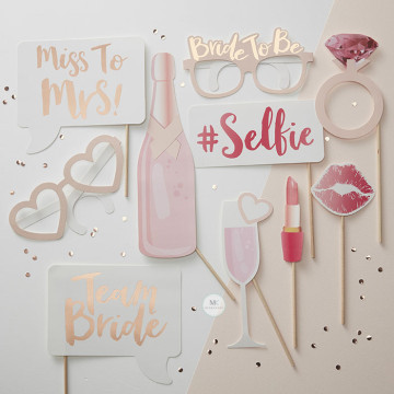 Miss to Mrs 10PCS set Photobooth Prop image