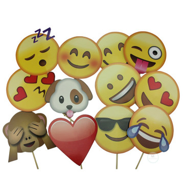 Emoji 12PCS Set Photobooth Prop image
