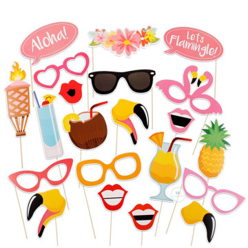 Flamingo Tropical 21PCS Set Photobooth Prop image