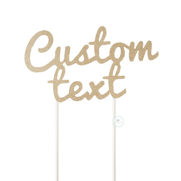Customized Cake Topper- Glitter Gold image