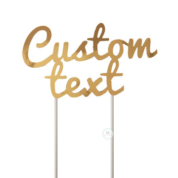 Customized Cake Topper- Mirror Gold image
