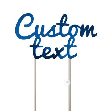 Customized Cake Topper- Mirror Blue image