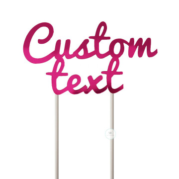 Customized Cake Topper- Mirror Pink image