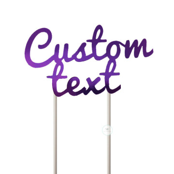 Customized Cake Topper- Mirror Purple image