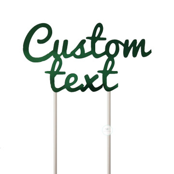 Customized Cake Topper- Mirror Green image