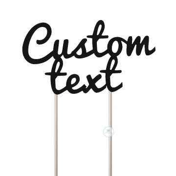 Customized Cake Topper- Glitter Black image