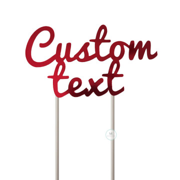 Customized Cake Topper- Mirror Red image