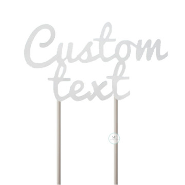 Customize Cake Topper- Matt Silver image
