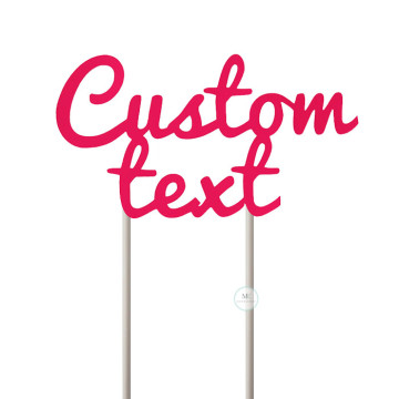 Customized Cake Topper- Neon Pink image