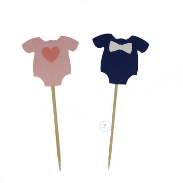 Baby Romper cupake Topper [5pcs/pkt] image