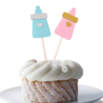 Baby Milk Bottle cupcake Topper [6pcs/pkt] image