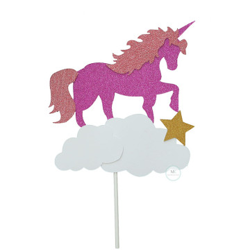 Unicorn cake topper image