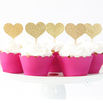 Mini Hearts cupcake topper [5pcs/pkt] image
