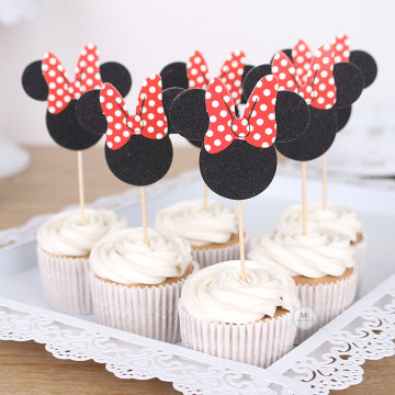 Minnie Mouse cake topper [6pcs/pkt] image