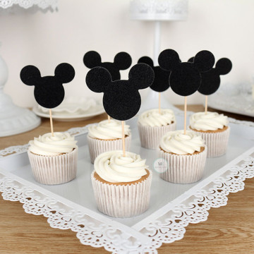 Mickey Mouse cupcake topper [6pcs/pkt] image