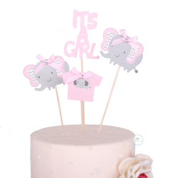 It's a Girl cake topper set image
