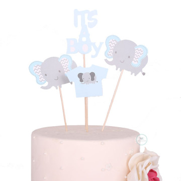 It's a Boy cake topper set image