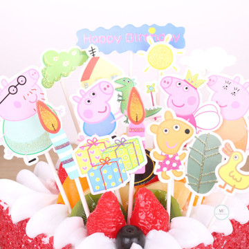 Peppa Pig Cake topper set image
