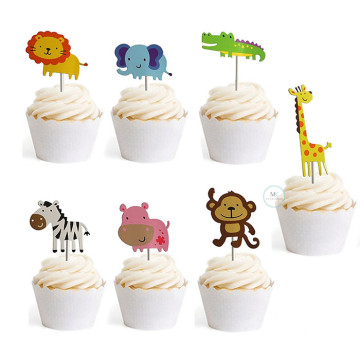 Zoo Party cupcake topper set image