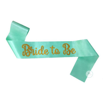 Bride to be Sash - Tiffany Blue image