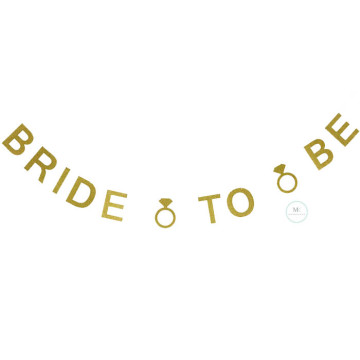 Bride to be Gold Glitter Banner image