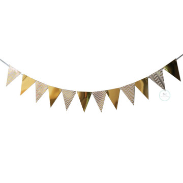 Triangle Flag Bunting Banner Garland [Gold] image