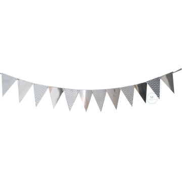 Silver Chevron Party Flag Banner image