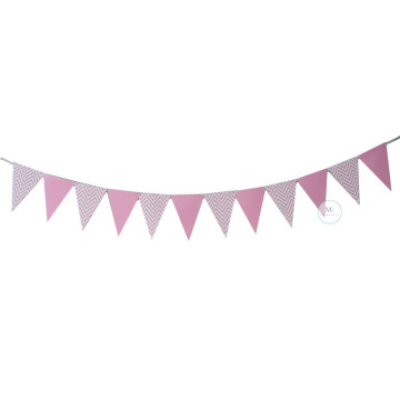 Pink Chevron Party Flag Banner image