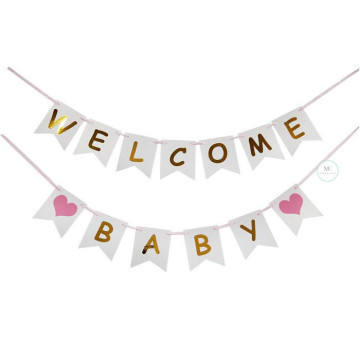 Welcome Baby Banner [Pink] image