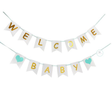 Welcome Baby Banner [Tiffany Blue] image