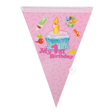 My 1st Birthday Flag Banner [Pink] image