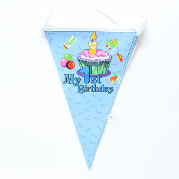 My 1st Birthday Flag Banner [Blue] image
