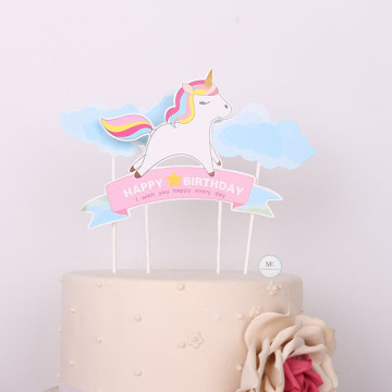 Unicorn cake topper set image