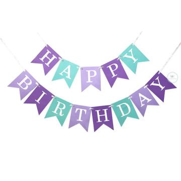 Happy Birthday Banner Mermaid theme image