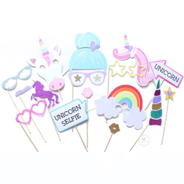 Unicorn Selfie 16PCS Set Photobooth Prop image
