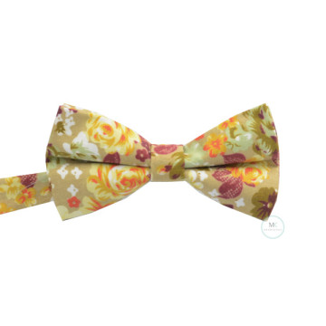 Floral Bow Tie in Champagne image