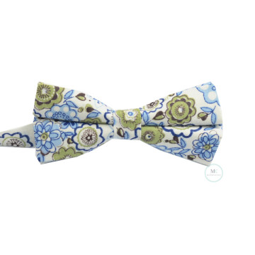 Floral Bow Tie in White image