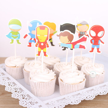 Superhero cupcake topper set [8pcs/pkt] image
