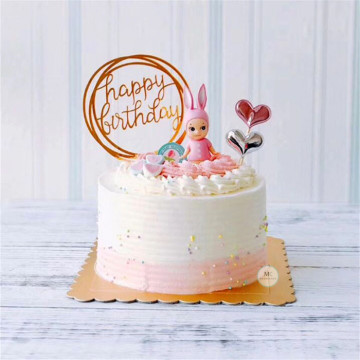 Acrylic Birthday Cake Topper [Gold] image