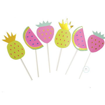 Fruits cupcake topper set image