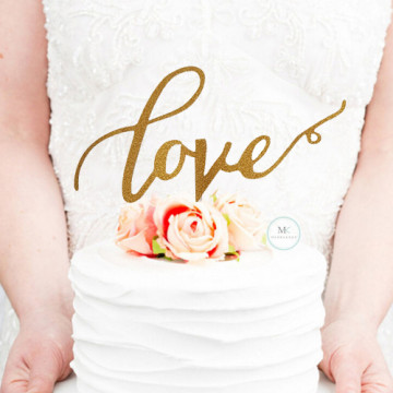 Simple Love cake topper image