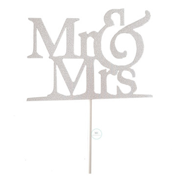 MR & MRS cake topper image