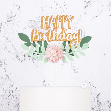 Happy Birthday Laurel Wreath image