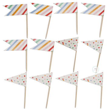 Cupcake flags topper set image