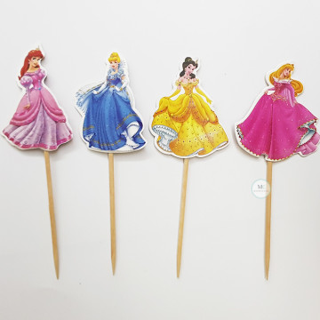 Disney Princess Cupcake topper image