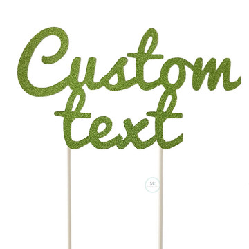 Customized Cake Topper- Glitter Green image
